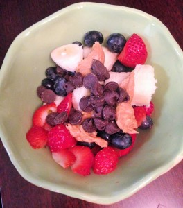 fruit peanut butter chocolate chips