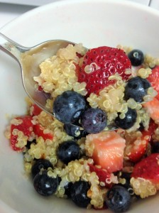 fruity peanut butter quinoa