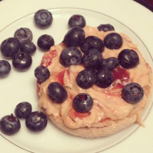 english muffin blueberries