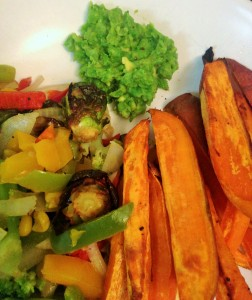 sweet potatoes with guacamole