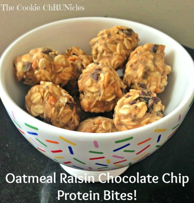 oatmeal raisin chocolate chips bites
