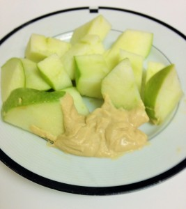 apples with hummus