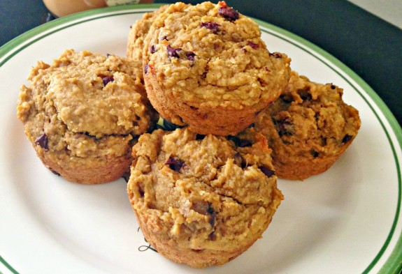 pb and pumpkin oat bran muffins