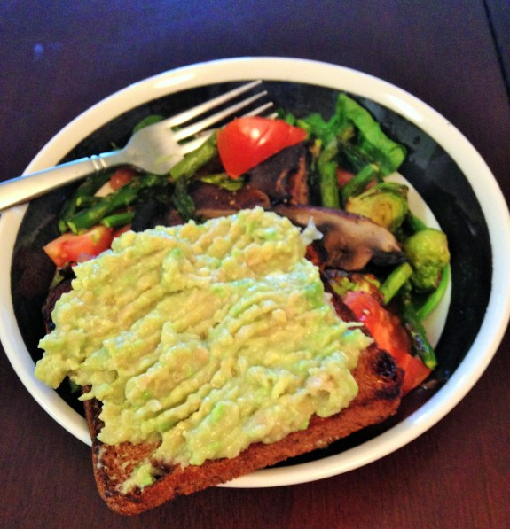 mashed chick pea avocado toast