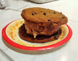 giant cookie sandwich