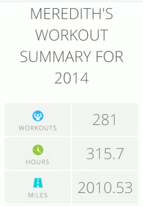workout summary 2014