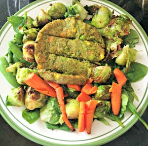 veggie burger salad
