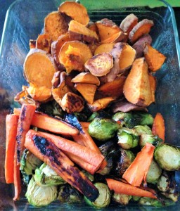 roasted veggies meal prep