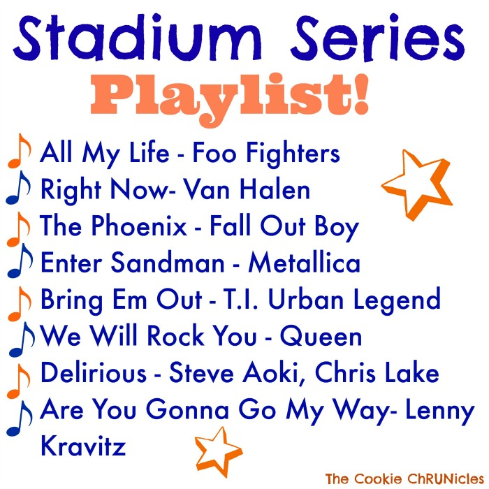 stadium series running playlist