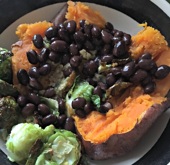 black beans and sweet potato