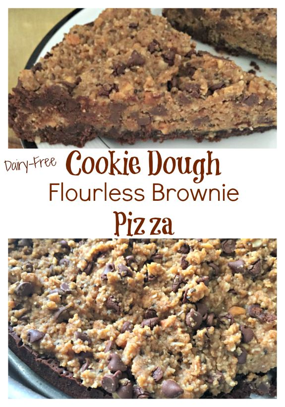 cookie dough flourless brownie pizza