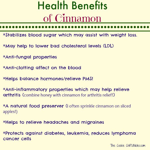 healthy benefits of cinnamon