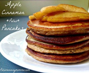 Apple Cinnamon Paleo Pancakes