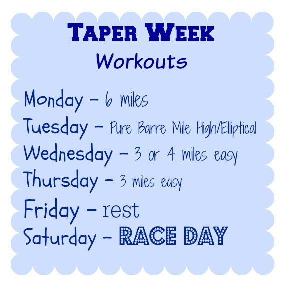 taper week workouts