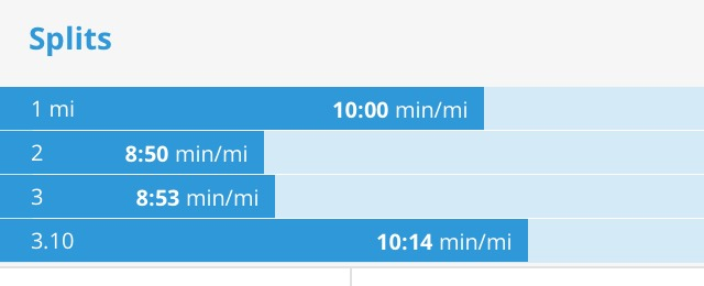 5k workout splits