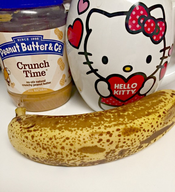 banana with peanut butter and coffee