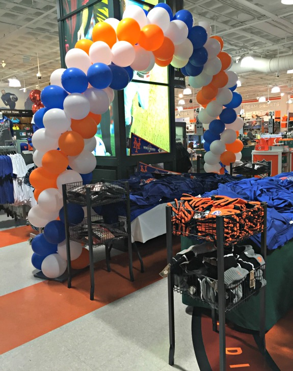 orange and blue balloons