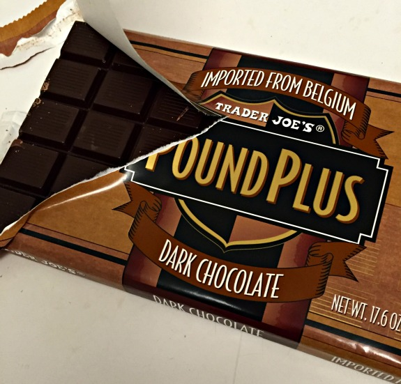 Dark Chocolate Pound Plus Chocolate Bar From Trader Joe's