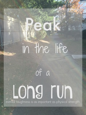 peak in the life of a long run
