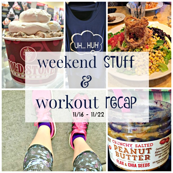 weekend stuff and workout recap