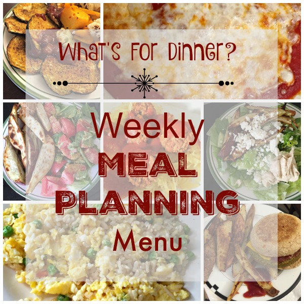 weekly meal planning menu