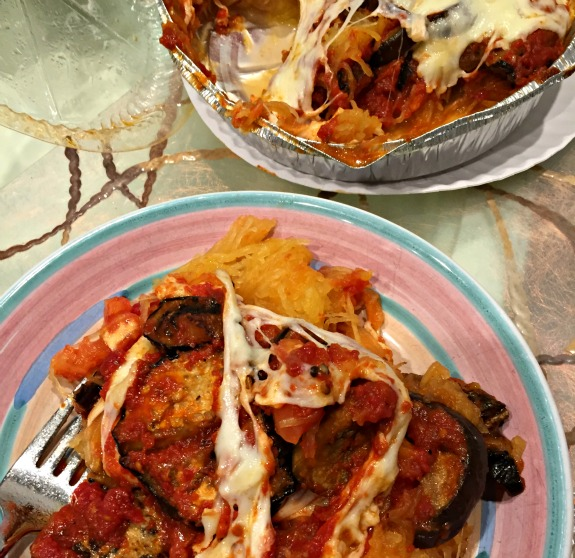 Mother Kelly's eggplant and spaghetti squash