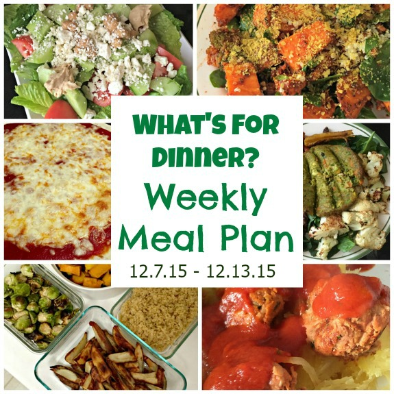 what's for dinner weekly meal plan 12.7.15 - 12.13.15