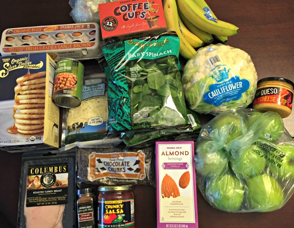 food shopping to beat the crowds & dinner plan