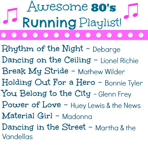 awesome 80's running playlist