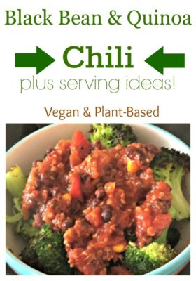 black bean and quinoa chili vegan and plant based