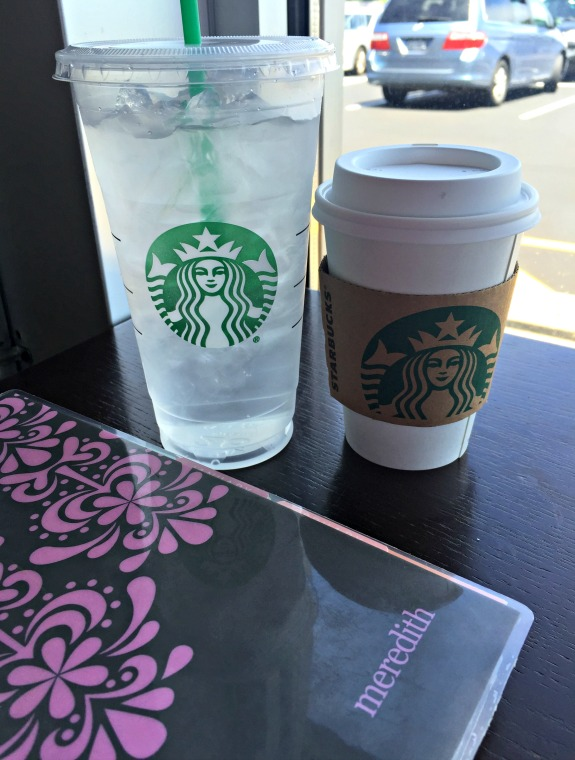 starbucks coffee and water