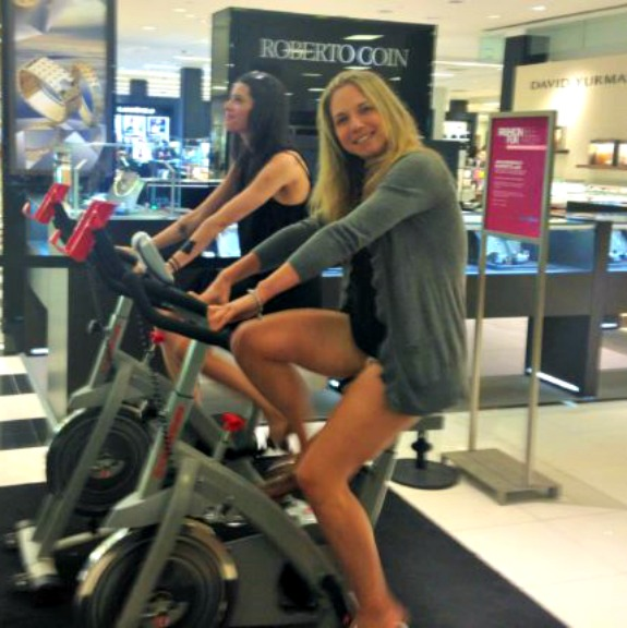 spin bike in bloomingdales