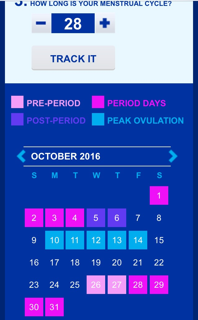 period calculator