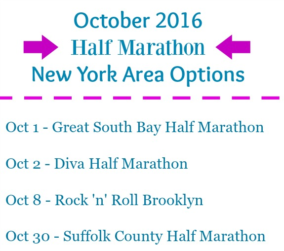 October 2016 half marathon new york area options