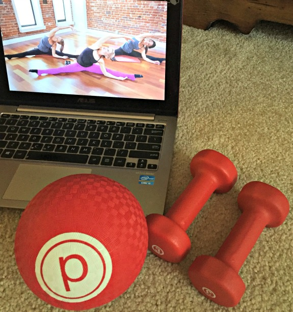 pure barre online workout with focus on thighs