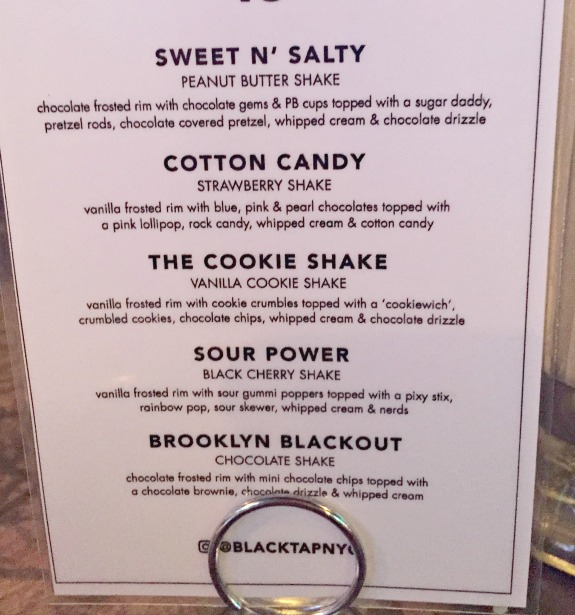 black tap nyc shakes menu