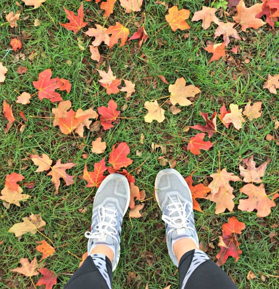 faaling leaves half marathon training