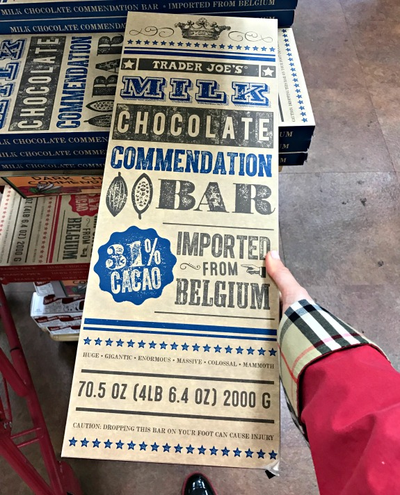 Trader Joe's giant chocolate bars
