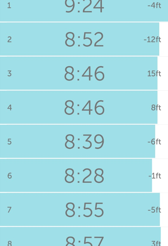 runkeeper splits