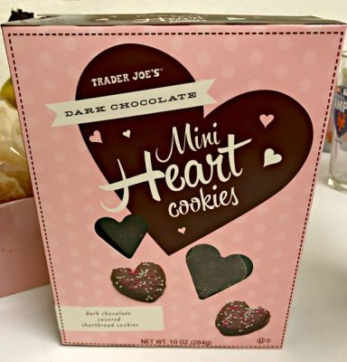 Trader Joe's mini heart cookies