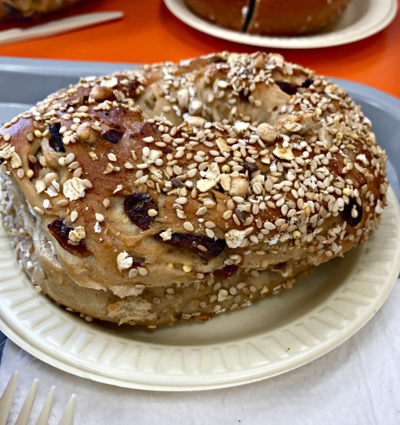 maple raisin multigrain bagel