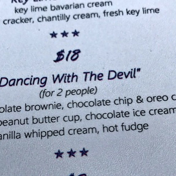 dancing with devil dessert