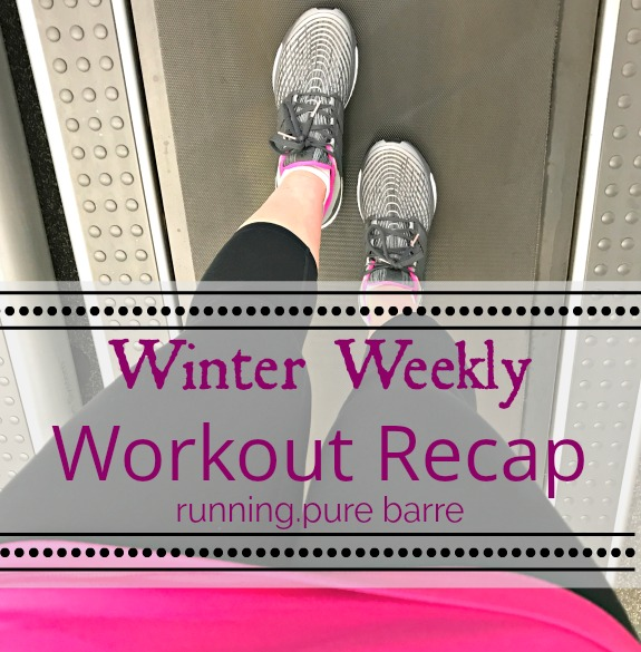3 Runs + Pure Barre + Treadmill Incline Walking? (workout recap)
