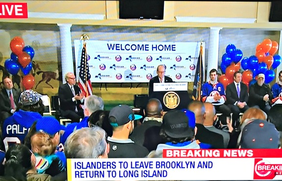 islanders leaving Brooklyn