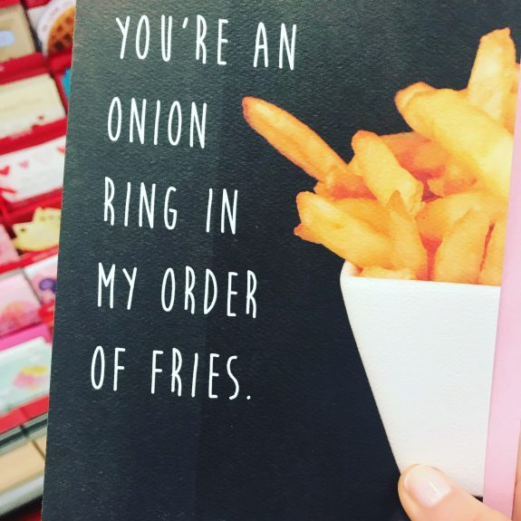 onion rings valentines card