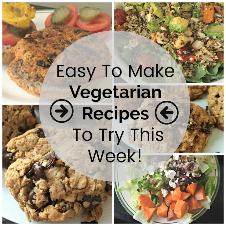 Round up of easy to make vegetarian recipes worth trying this week!