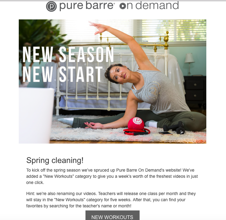 pure barre on demand