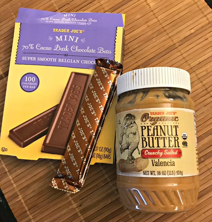 Trader Joe's dark chocolate and peanut butter