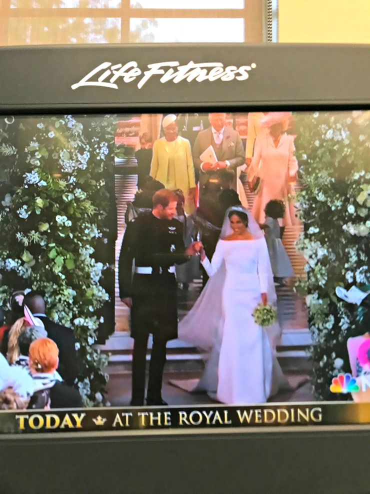 royal wedding from gym
