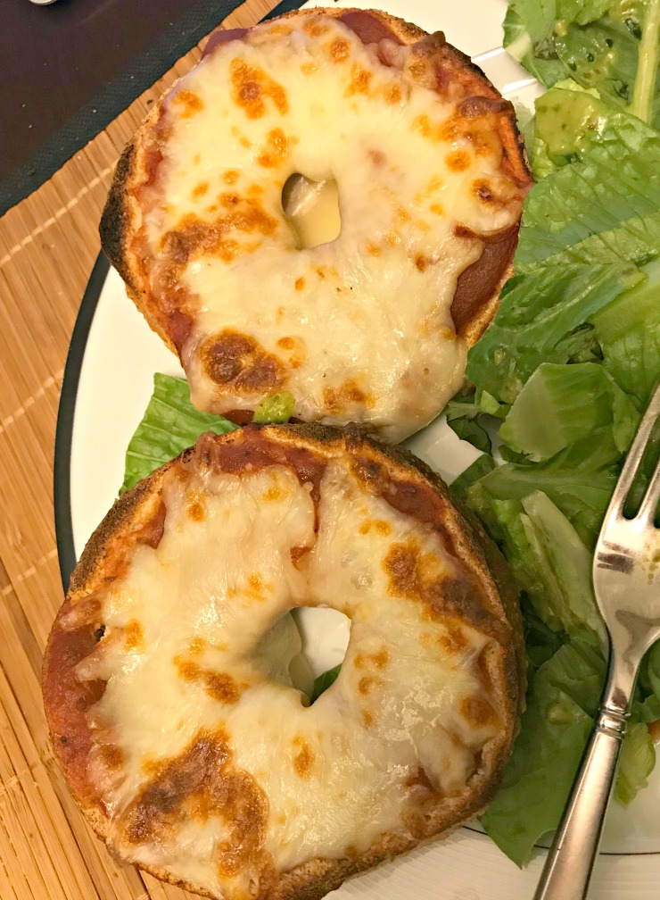 whole wheat pizza bagel